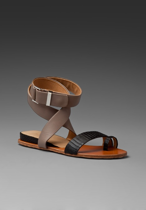 Lamb Myra Sandal in Elephant/Black