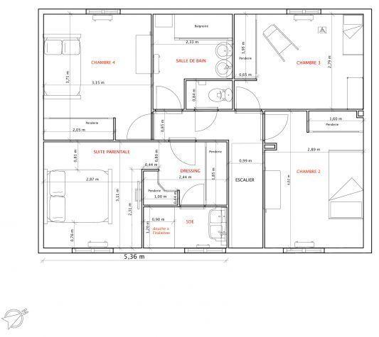 Plan maison 120m2 recherche google plan maison 100 m2 for Plan maison 120m2