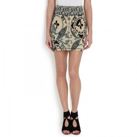 @Maison_Olga Jacquard cotton blend skirt Exclusive @FRENCHRENDEZVOUS.COM.AU