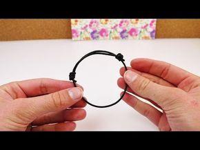 Schiebeknoten binden | Verstellbares Armband selber machen | mit einem Lederband - YouTube