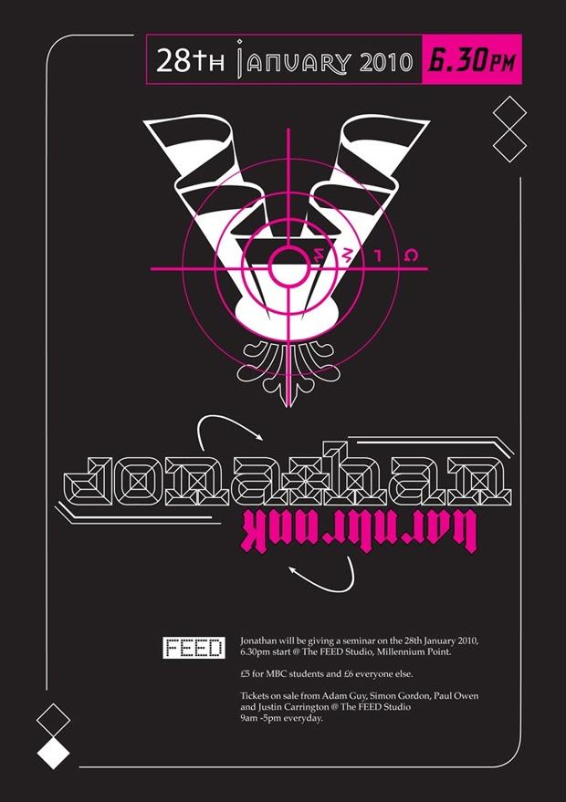 Jonathan Barnbrook seminar poster