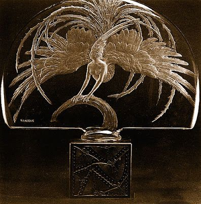 Lalique Firebird perfume bottle