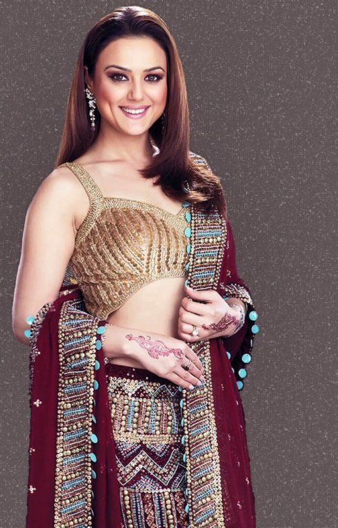 preity zinta in saree