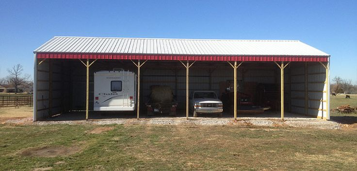 Looking for an easy-to-build three sided pole barn to keep your equipment out of the elements? Shop Sutherlands for pole barn and post frame buildings.