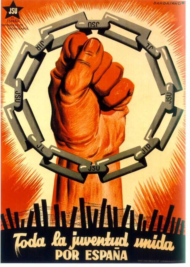 Foda la juventud unida Por Espana / All young people united for Spain, Spanish Civil War, 1936-1939