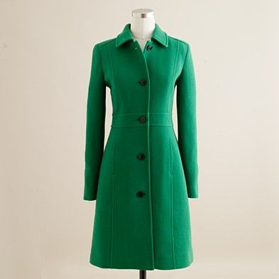 love the bright green color...think this is going to be my new winter coat (from JCrew)