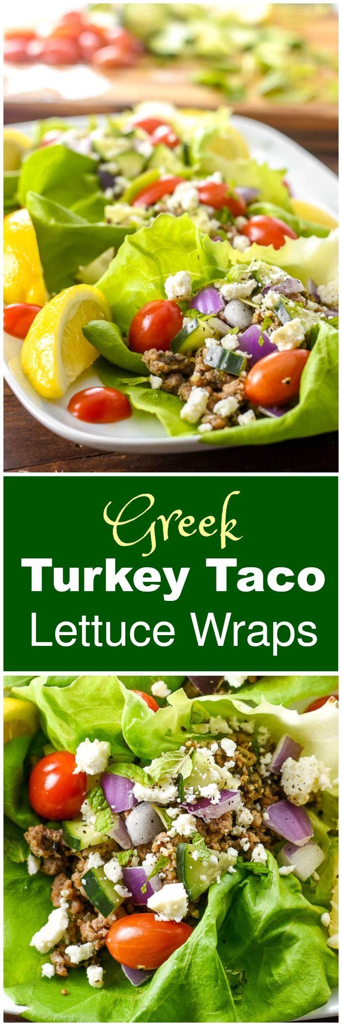 turkey taco lettuce wraps lettuce wraps forward greek turkey taco ...