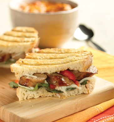 fresco Roasted Garlic Chicken #Sausage Tuscan #Panini with Red Peppers ...