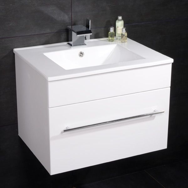 Aspen 60cm Wall Mounted White Vanity Unit £129