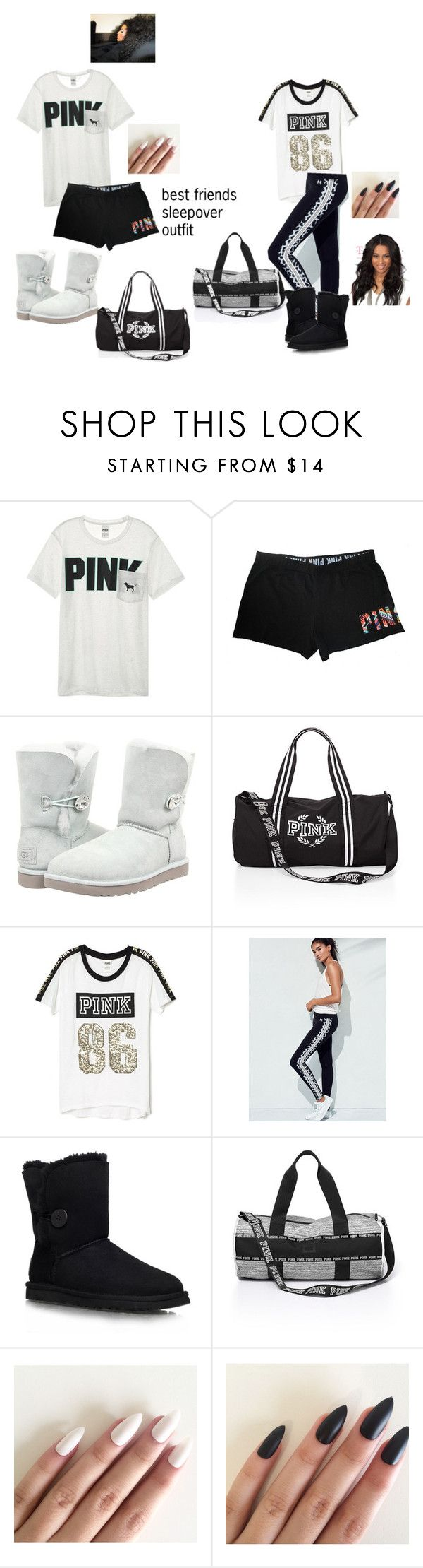 """victoria secret sleepover outfit"" by dopeswalit on Polyvore featuring Victoria's Secret and UGG Australia"