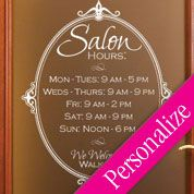 hair designs vinyl wall stickers   Category - Business Wall Decals - Beauty Salon Wall Decals