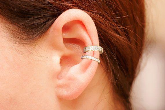 Boucle d'oreille or 18K ensemble, ouvrir l'oreille aux poignets, d'oreille Non percées, oreille Wrap, poignets de l'oreille ensemble, dernière mode