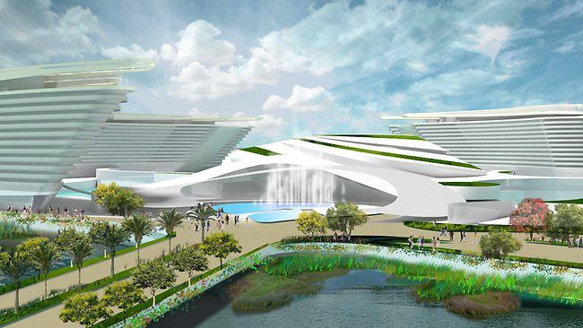 New look praised as leaders declare the $4.2 billion Aquis Great Barrier Reef Resort magnificent