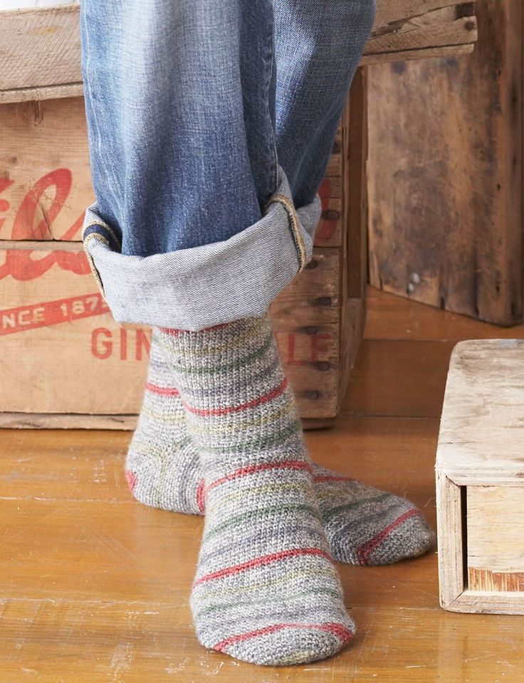 Just your basic socks - Patons Toe Up Socks - Patterns  | Yarnspirations - for crocheting