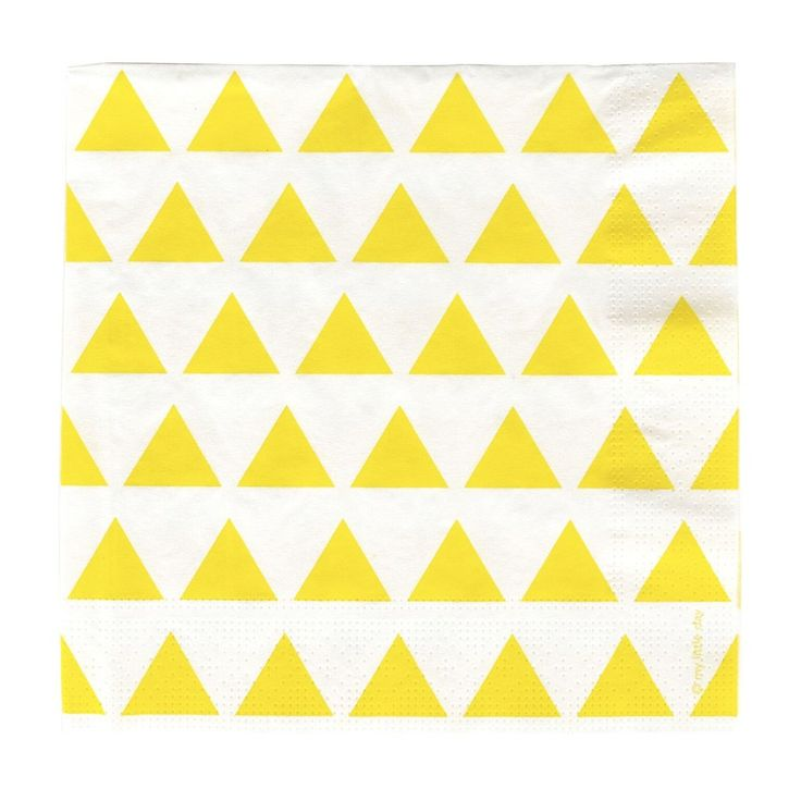 Yellow Triangle Napkins (20 Pack) – Lucky Lulu Party Shop