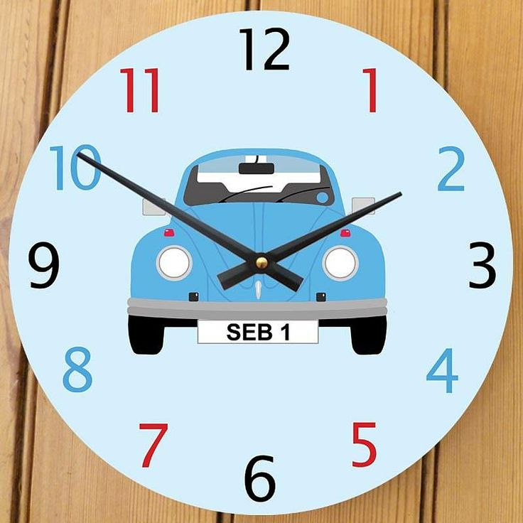 personalised beetle clock by cute-clocks | notonthehighstreet.com