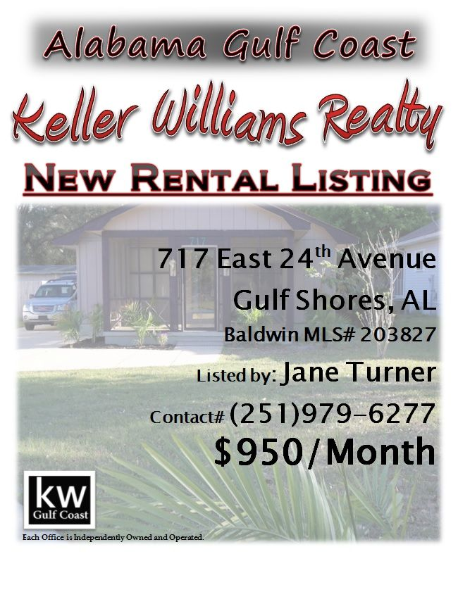 Availibility For Sunrays Gulf Shores Al Vacation Rental: NEW RENTAL LISTING: 717 East 24th Avenue, Gulf Shores, AL