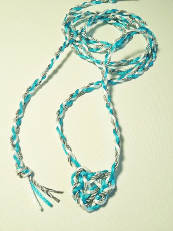 Handfasting Cord with Celtic Heart Knot by celticbubblewands, $24.00...you choose your three colors, approx. 5 feet long