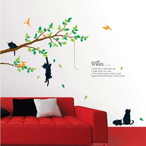 Best Wall Decals Images On Pinterest - Custom vinyl wall decals cats