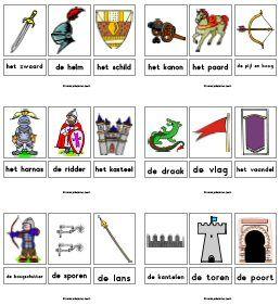 * Woordkaarten: Ridders!