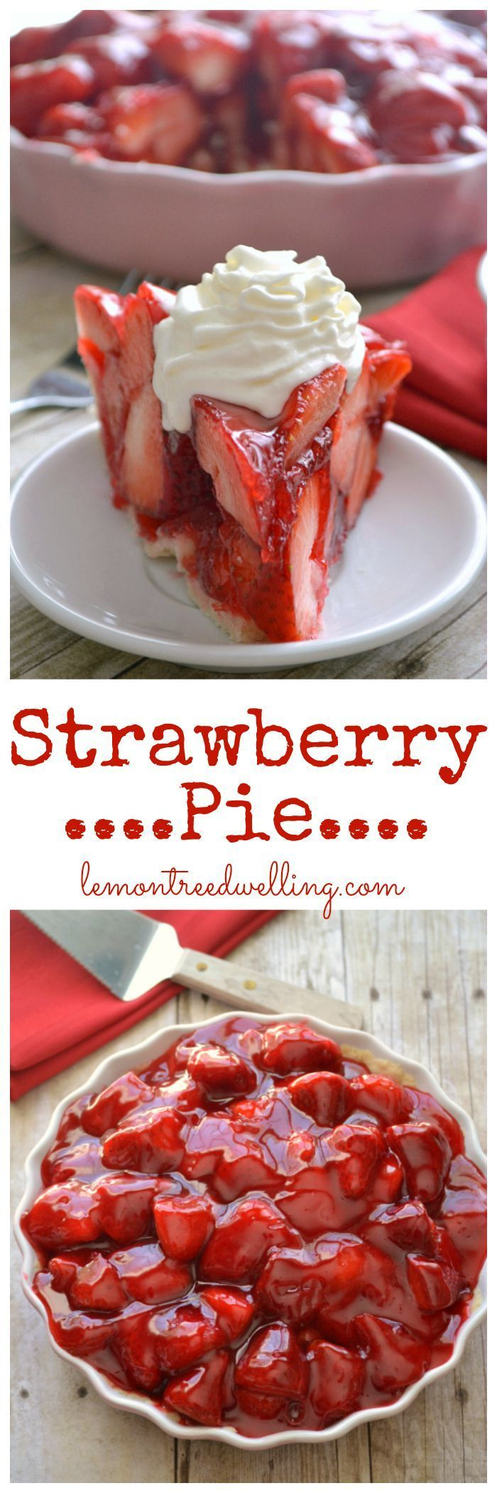 The BEST Strawberry Pie! Fresh strawberries mounded high in a rich, buttery crust. A little (or big) slice of delicious! @ctrochelman