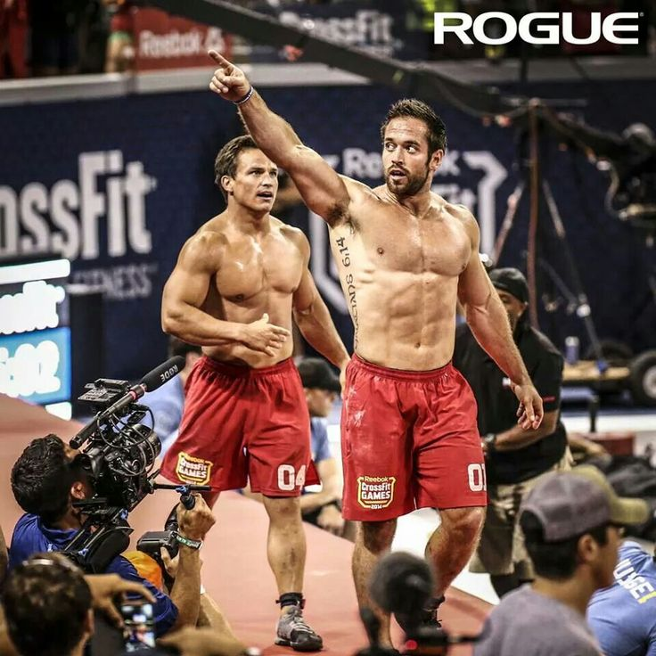 Rich froning and Josh Bridges at the push and pull event