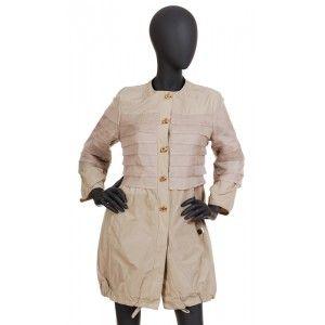 Violanti - jasny płaszcz z jedwabną podszewką