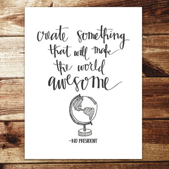 Create Something Awesome Print by evannicoledesigns on Etsy, $15.00