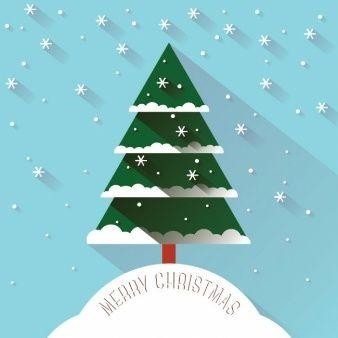 árbol de navidad larga sombra estilo