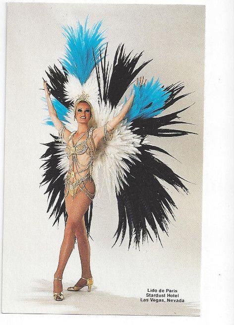 Showgirl at the Lido de Paris at the Stardust Hotel, Las Vegas,  Nevada