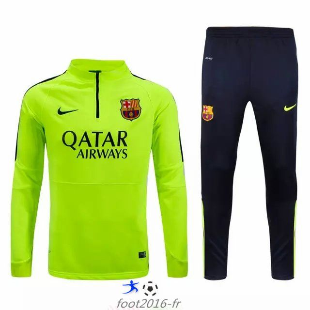 promo nouveau survetement equipe de foot fc barcelone vert 2015 2016 pas chere prix. Black Bedroom Furniture Sets. Home Design Ideas