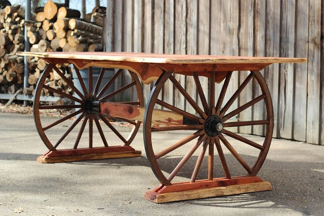 turquoise inlay wagon wheel table