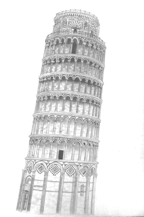 Leaning Tower Of Pisa  My Drawings  Art drawings Pisa
