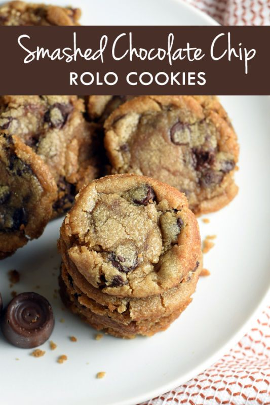 Rolo cookies, Rolo and Chocolate chips on Pinterest