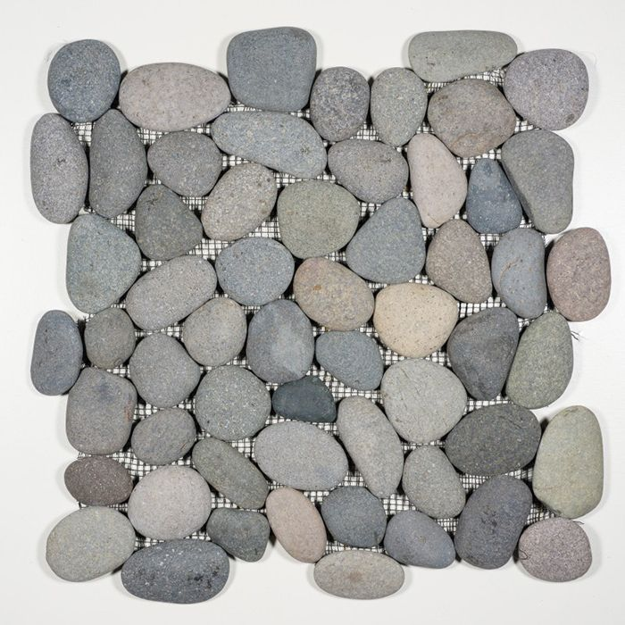 """Check out the deal on Natural River Pebbles - Bali Stone 6"""" x 12"""" Interlocking Border at GBTile Collections"""