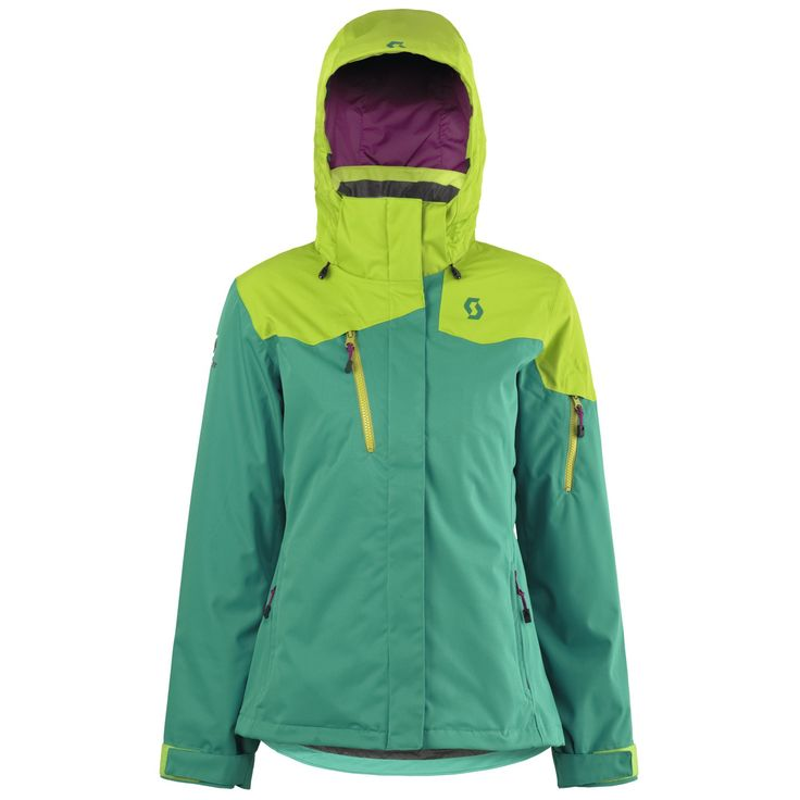 Scott sports USA The Ultimate Dryo W Ski Jacket 2016 kale green / apple green