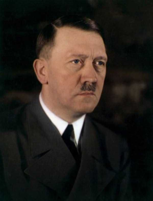 A rare color photo of Hitler wich shows his true eye color Extremely Rare Historical Photos (40 photos)