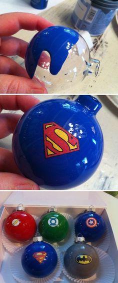 Superhero Christmas Balls