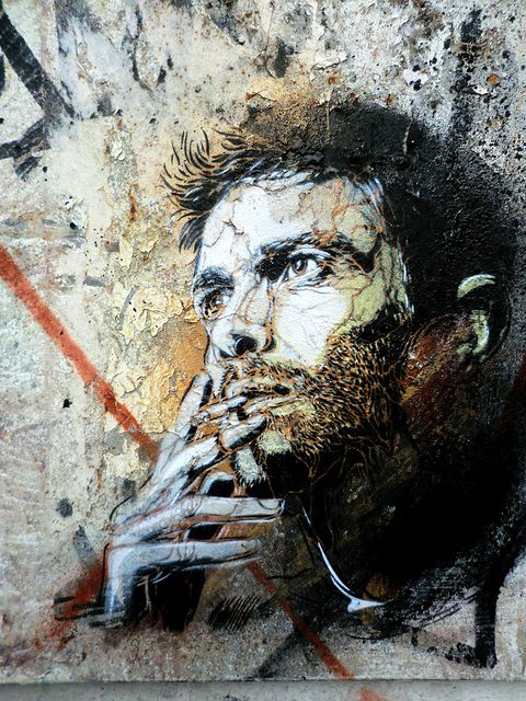 by street artist C215 - Marseille- brilliant French Street artist