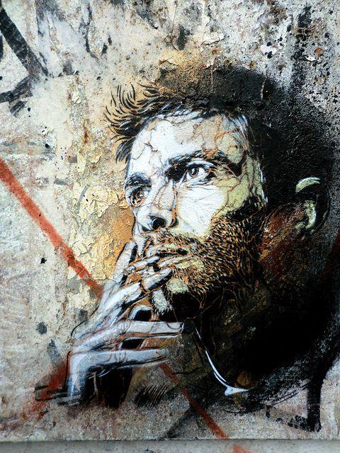 by street artist C215 - Marseille- brilliant French Street artist