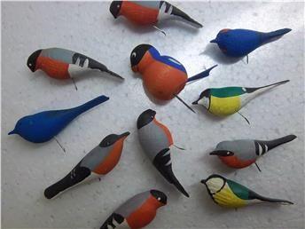 11 st träfåglar/fåglar till granen