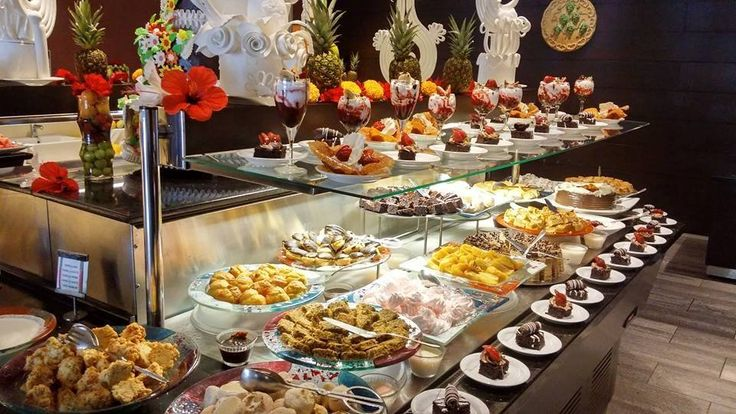 Wide selection of desserts @ Hotel Turquoise.