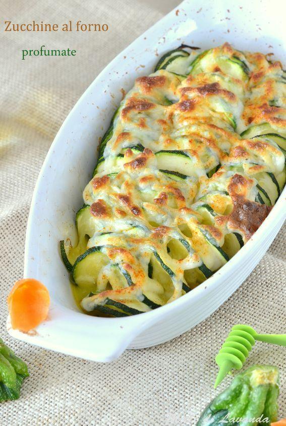 Zucchine al forno profumate