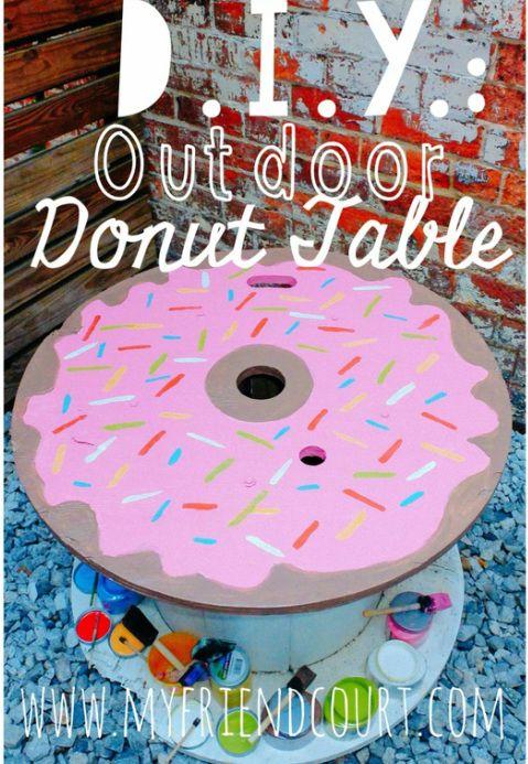 DIY Homer Simpson Donut Table Pinterest