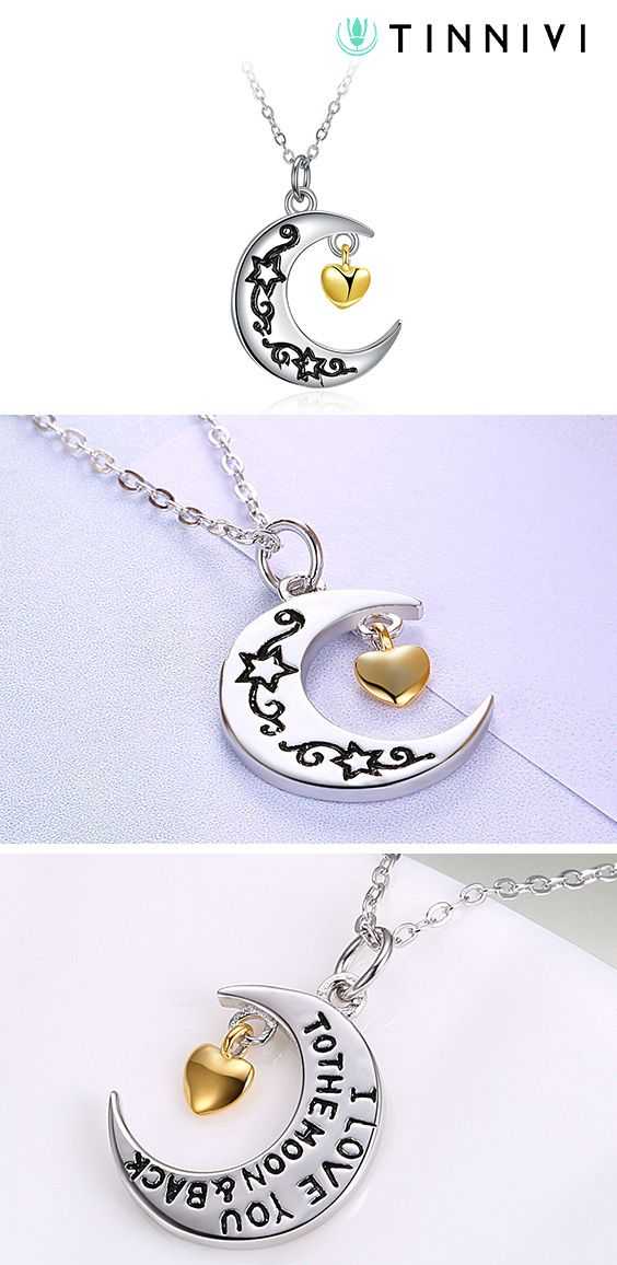 0ef44fc7659 Shop ❤️Tinnivi Moon And Back Sterling Silver Pendant Necklace❤️online️,  Tinnivi #Jewelry creates quality fine jewelry at gorgeous prices. Shop now!