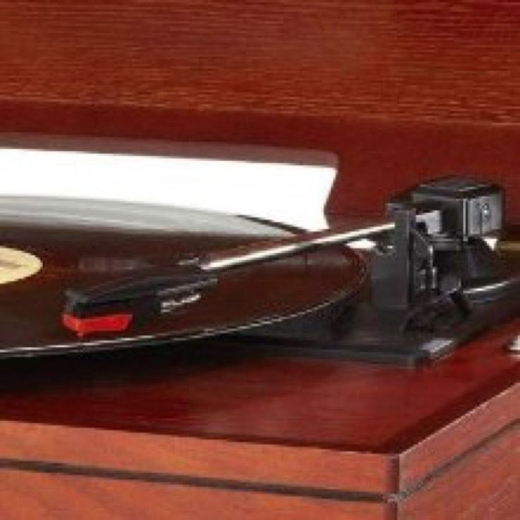 Record Player With Speakers CD's AM FM Radio Music Vinyl Retro Turntable Stand #Crosley