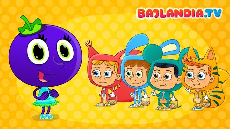 Jesteśmy jagódki, czarne jagódki - Piosenki dla dzieci - bajlandia.tv - ...