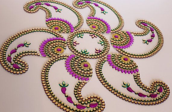 Kundan Rangoli Indian Fancy Floor Art