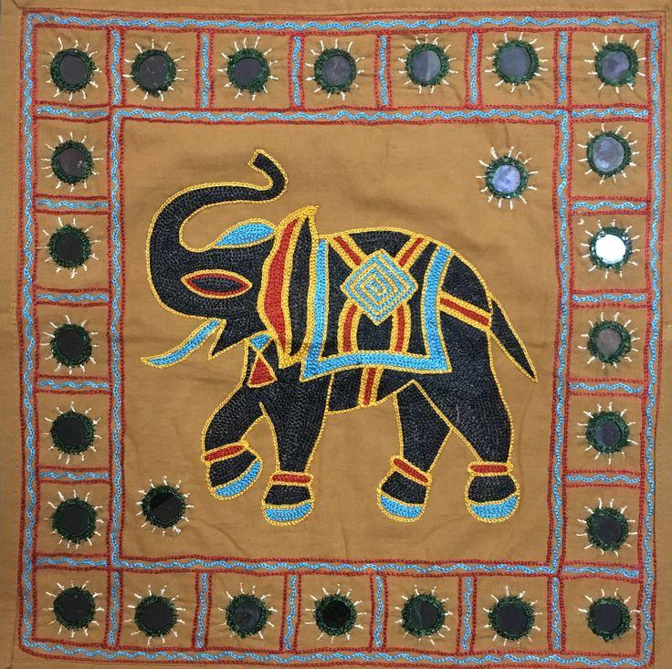 indian elephant decorative miror pillow cover bohemian throw pillow indian pillow insert hand embroidery pillow case