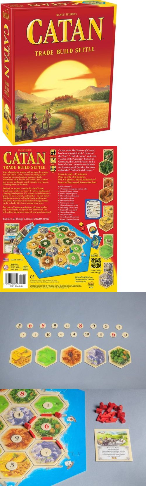 Gaiters 181377: Catan 5Th Edition Toy Game Kids Play Gift Board Traditional Game 3-4 Players -> BUY IT NOW ONLY: $30 on eBay!
